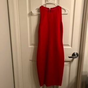 Zara fitted back cut-out red dress - size XS